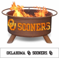 Oklahoma Sooners Outdoor Fire Pit