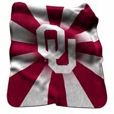 Oklahoma Sooners Raschel Throw