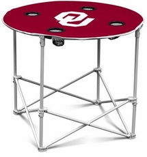 Oklahoma Sooners Round Tailgate Table