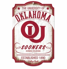 Oklahoma Sooners Wood Sign - College Vault