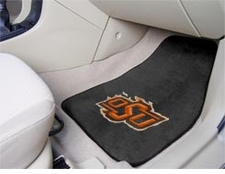 Oklahoma State Cowboys 2-Piece Carpeted Car Mats Front Set
