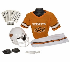 Oklahoma State Cowboys Deluxe Youth / Kids Football Helmet Uniform Set