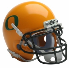 Oregon Ducks 2009 Yellow Schutt Throwback Mini Helmet