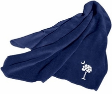Palmetto (South Carolina) Blue Fleece Throw