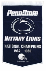 Penn State Nittany Lions 24 x 36 Football Dynasty Wool Banner