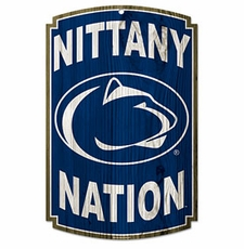 Penn State Nittany Lions Wood Sign
