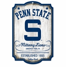 Penn State Nittany Lions Wood Sign - College Vault