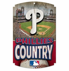 Philadelphia Phillies Wood Sign