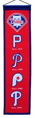Philadelphia Phillies Wool 8x32 Heritage Banner