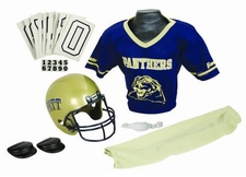 Pittsburgh Panthers Deluxe Youth / Kids Football Helmet Uniform Set
