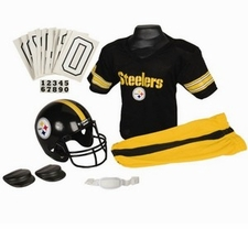 Pittsburgh Steelers Deluxe Youth / Kids Football Uniform Set