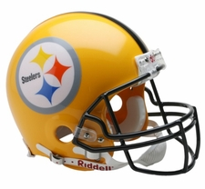 Pittsburgh Steelers Gold Riddell Full Size Authentic Helmet