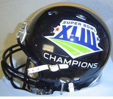 Pittsburgh Steelers Super Bowl 43 XLIII Champions Replica Black Revolution Mini Helmet