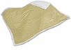 Plain Cream Sherpa Throw Blanket