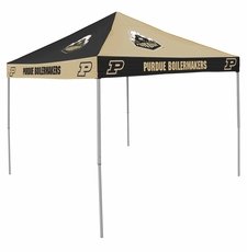 Purdue Boilermakers Black / Gold Checkerboard Logo Canopy Tailgate Tent