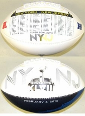 Road to the Super Bowl 48 XLVIII Fotoball Signature NFL Full Size Football