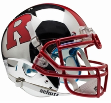 Rutgers Scarlet Knights Chrome Red R, Red Stripe Schutt XP Authentic Helmet