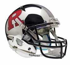 Rutgers Scarlet Knights Chrome w/ Red R and Gray Stripe Schutt XP Full Size Replica Helmet