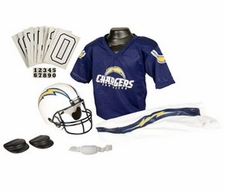 San Diego Chargers Deluxe Youth / Kids Football Uniform Set