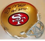 San Francisco 49ers Autographed Football Gear
