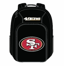 San Francisco 49ers Backpack - Southpaw Style (Black)
