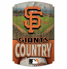 San Francisco Giants Wood Sign