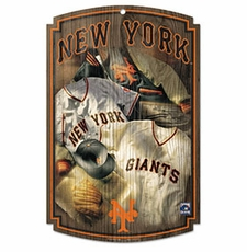 San Francisco Giants Wood Sign w/ Throwback New York Jersey