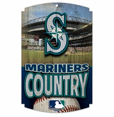 Seattle Mariners Wood Sign