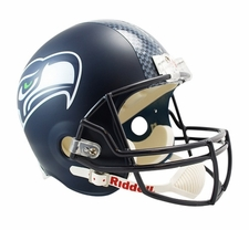 Seattle Seahawks Decal Stripe Full-Size Deluxe Replica Helmet