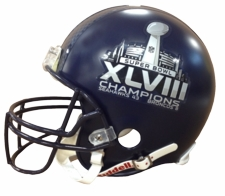 Seattle Seahawks Super Bowl 48 XLVIII Champions Riddel Proline Authentic Helmet w/ HydroFX Decal