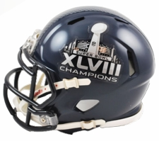 Seattle Seahawks Super Bowl 48 XLVIII Champions Riddel Speed Mini Helmet