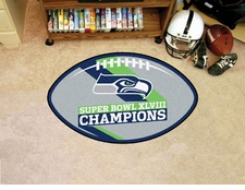 Seattle Seahawks Super Bowl Champions Football Floor Mat