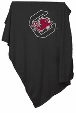 South Carolina Gamecocks Black Sweatshirt Blanket