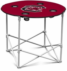 South Carolina Gamecocks Round Tailgate Table