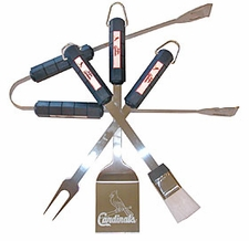 St. Louis Cardinals Grill BBQ Utensil Set