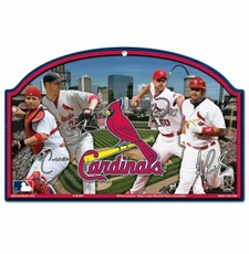 St. Louis Cardinals Wood Sign - Players Design