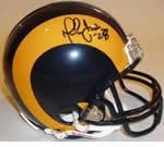 St. Louis Rams Autographed Football Gear