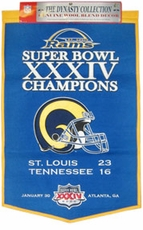 St. Louis Rams Limited Edition 24 x 36 Wool Dynasty Banner