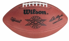 Super Bowl 20 XX Wilson Official NFL Game Football : Chicago Bears vs. New England Patriots