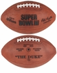 Super Bowl 3 III Wilson Official NFL Authentic Commemorative Game Football New York Jets vs Baltimore Colts