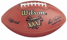 Super Bowl 31 XXXI Wilson Official NFL Game Football : Green Bay Packers vs. New England Patriots