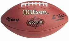 Super Bowl 32 XXXII Wilson Official NFL Game Football : St. Louis Rams vs. New England Patriots