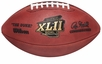 Super Bowl 42 XLII Wilson Official NFL Game Football : New England Patriots vs. New York Giants