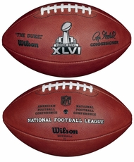 Super Bowl 46 XLVI Wilson Official NFL Game Football New York Giants vs. New England Patriots