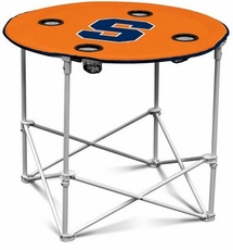 Syracuse Orange Round Tailgate Table