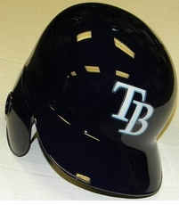 Tampa Bay Rays Right Flap Rawlings Authentic Batting Helmet