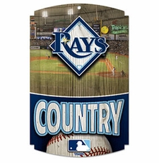 Tampa Bay Rays Wood Sign