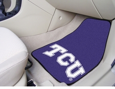 TCU Horned Frogs 2-Piece Carpeted Car Mats Front Set
