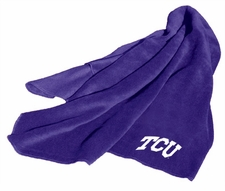 TCU Horned Frogs Fleece Throw