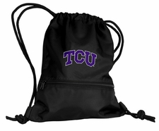 TCU Horned Frogs Gray String Pack / Backpack